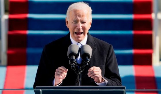Joe Biden speaks after being sworn in as the 46th president of the United States during his inauguration at the Capitol in Washington on Jan. 20.