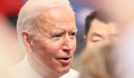 President Joe Biden speaks after giving a speech on Wednesday in Macungie, Pennsylvania.