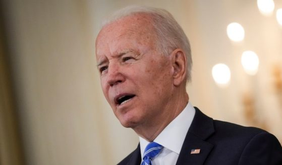 President Joe Biden speaks about the nation's economic recovery amid the COVID-19 pandemic in the State Dining Room of the White House on Monday in Washington, D.C.