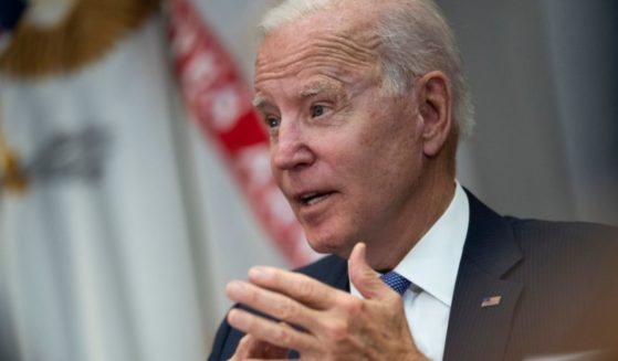 President Joe Biden meets with advisers, union and business leaders about infrastructure in the Roosevelt Room of the White House on Thursday in Washington, D.C.