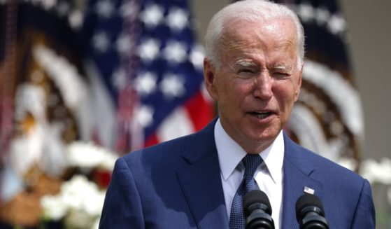 President Joe Biden delivers remarks during an event in the Rose Garden of the White House on Monday in Washington, D.C.