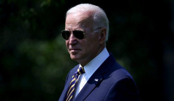 President Joe Biden walks board Marine One on the South Lawn of the White House on Wednesday in Washington, D.C.