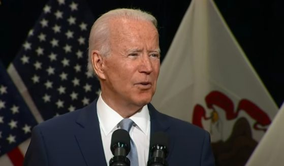 President Joe Biden speaks at McHenry County College in Crystal Lake, Illinois, on Wednesday.