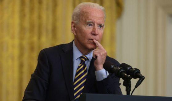 President Joe Biden speaks at the White House on Thursday in Washington, D.C.