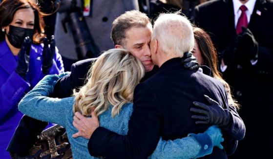 President Joe Biden, right, is embraced by his son Hunter Biden after being sworn in at the U.S. Capitol on Jan. 20, 2021, in Washington, D.C.