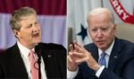 Louisiana Republican Sen. John Kennedy, left, scorched President Joe Biden in an interview this week.