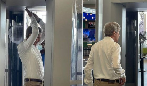 John Kerry flouted federal air travel mask mandates for a second time this year while at an airport in Boston on Monday.