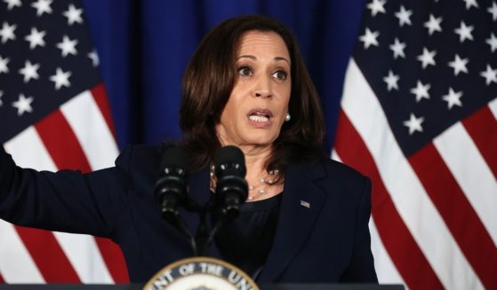 Vice President Kamala Harris delivers remarks at the Louis Stokes Library on the campus of her alma mater Howard University on Thursday in Washington, D.C.