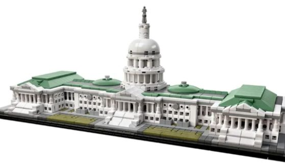 """The United States Capitol Building Architecture set is listed as a """"retired product"""" on the LEGO website."""