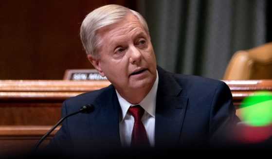 South Carolina Republican Sen. Lindsey Graham speaks during a hearing of the Senate Appropriations subcommittee on commerce, justice, science, and related agencies at the Dirksen Senate Office Building in Washington on June 9.