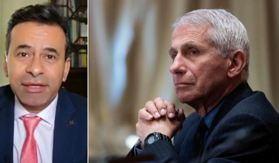 Fox News medical contributor Dr. Marty Makary, left, strongly disagreed with a recommendation on masking young children by Dr. Anthony Fauci, director of the National Institute of Allergy and Infectious Diseases, right.