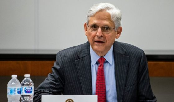 Attorney General Merrick Garland meets with law enforcement leaders on July 23, 2021, in Chicago.