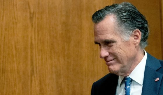Utah GOP Sen. Mitt Romney arrives for a Senate Health, Education, Labor, and Pensions Committee hearing last week on Capitol Hill in Washington.