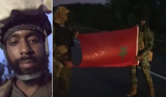 A member of the Rise of the Moors streams part of the I-95 standoff on the group's YouTube channel.
