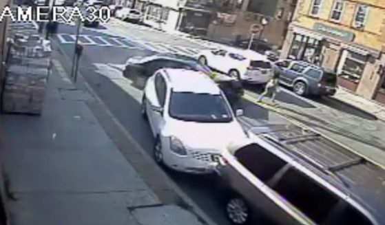 An alleged drunk driver swerves straight into a mother carrying her baby on Friday in Yonkers, New York.