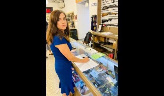 Republican South Carolina Rep Nancy Mace is pictured buying a gun after her home was vandalized on Memorial Day.
