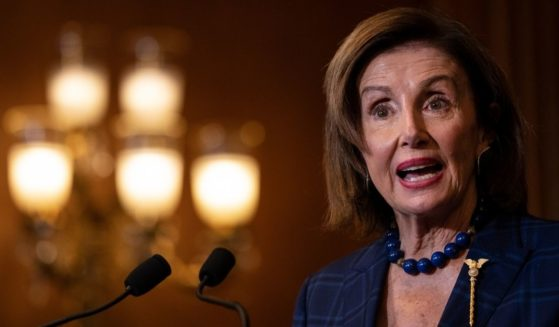 Democratic Speaker of the House Nancy Pelosi speaks during a bill enrollment ceremony for the Emergency Security Supplemental Appropriations Act at the U.S. Capitol on Friday in Washington, D.C.