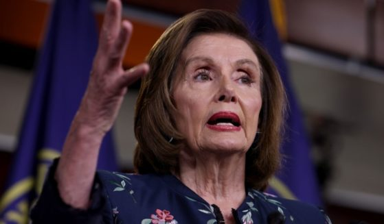 House Speaker Nancy Pelosi gestures during her weekly news conference at the Capitol building on Thursday in Washington, D.C.