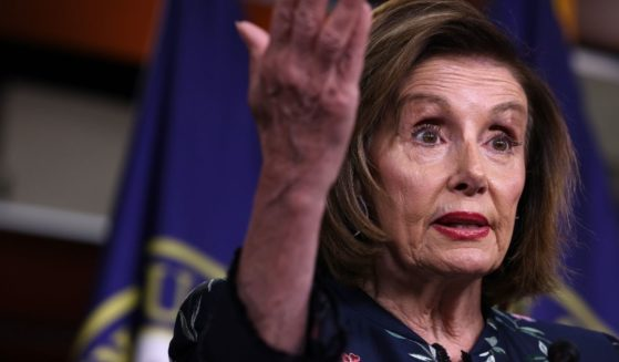 House Speaker Nancy Pelosi gestures during her weekly news conference at the Capitol on Thursday in Washington, D.C.