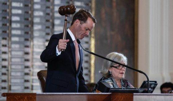 Texas Speaker of the House Dade Phelan gavels in the 87th Legislature's special session in the House chamber at the State Capitol in Austin on July 8.