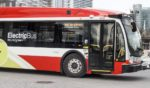 A Proterra electric bus is pictured in Toronto.
