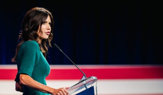 South Dakota Gov. Kristi Noem speaks during the Conservative Political Action Conference held at the Hilton Anatole on Sunday in Dallas.