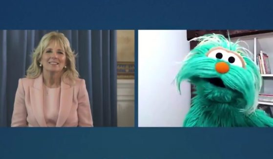 """First lady Jill Biden appears on popular children's television show """"Sesame Street"""" to discuss """"racial literacy."""""""