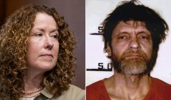 Tracy Stone-Manning, left, who was nominated to be the director of the Bureau of Land Management, was involved with Earth First! -- a radical environmentalist group praised by Ted Kaczynski, right, the domestic terrorist known as the Unabomber.