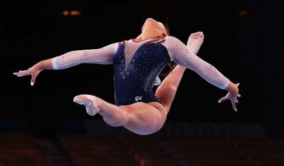 U.S. gymnast Sunisa Lee competes in the floor exercise during the women's all-around final of the Tokyo Olympic Games at the Ariake Gymnastics Centre on Thursday.