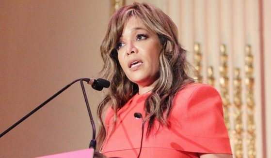 """""""The View"""" host Sunny Hostin speaks during the Help USA Scholarship Awards luncheon at The Plaza on Dec. 12, 2019, in New York City."""