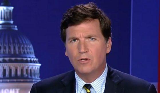 "Tucker Carlson speaks Wednesday on his Fox News show, ""Tucker Carlson Tonight."""