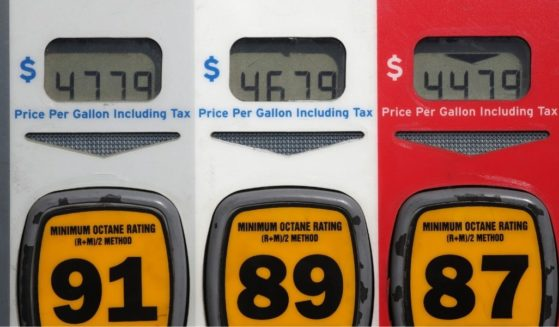 Gas prices over $4.00 per gallon are displayed at a Chevron gas station on Oct. 23, 2019, in San Anselmo, California.