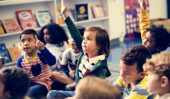 Classroom of kindergarten students.