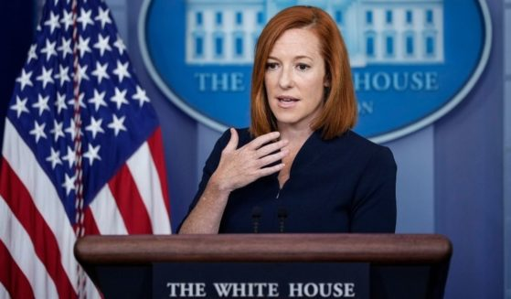 White House press secretary Jen Psaki speaks during the daily press briefing at the White House on Thursday