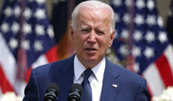 President Joe Biden, pictured speaking in the White House Rose Garden on Monday.