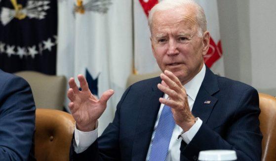 President Joe Biden, pictured in a White House meeting last week.