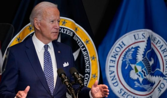 President Joe Biden speaks Tuesday during a visit to the Office of the Director of National Intelligence in McLean, Virginia.