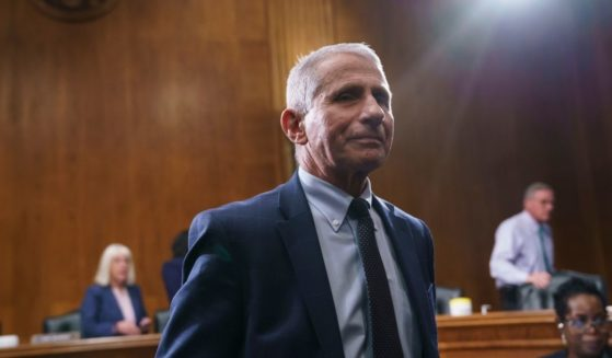 Dr. Anthony Fauci testifies before the Senate Health Committee in Washington on July 20.