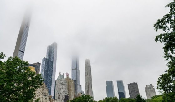 Skyscrapers around Central Park in New York City are seen on July 13, 2021.