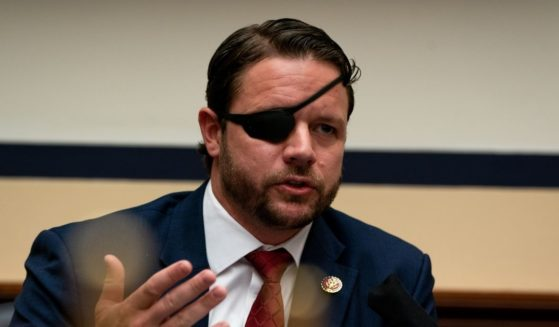 Texas Republican Rep. Dan Crenshaw speaks during a hearing before the House Committee on Homeland Security on Capitol Hill on July 22, 2020, in Washington, D.C.