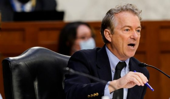 Sen. Rand Paul speaks during a Senate Health, Education, Labor and Pensions Committee hearing on the federal coronavirus response on Capitol Hill on March 18, in Washington, D.C.