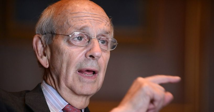 Supreme Court Justice Stephen Breyer answers a question during an interview in Washington, D.C., on May 17, 2012.