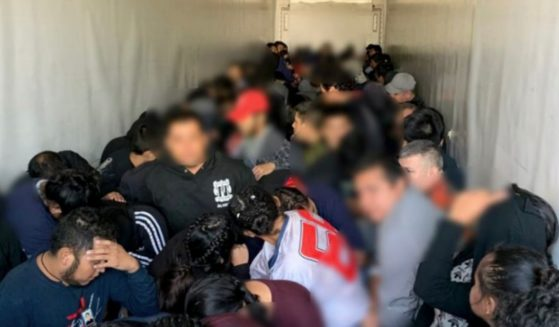 Texas State Troopers pulled over a semi truck near Laredo today that was crammed full of 105 migrants who were being smuggled into the U.S. on July 19.