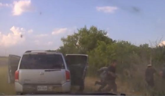 Texas State Trooper dash cam footage of immigrants arrested on July 23.