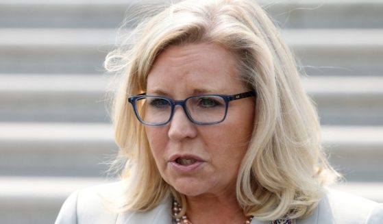 Wyoming Republican Rep. Liz Cheney speaks to reporters outside of the U.S. Capitol on July 21, in Washington, D.C.