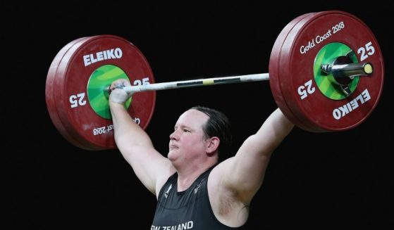 Laurel Hubbard of New Zealand competes in the Gold Coast Commonwealth Games at the Carrara Sports and Leisure Centre on the Gold Coast, Australia, on April 9, 2018.
