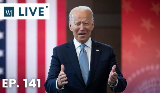 President Joe Biden arrives to speak about voting rights at the National Constitution Center on Tuesday in Philadelphia.