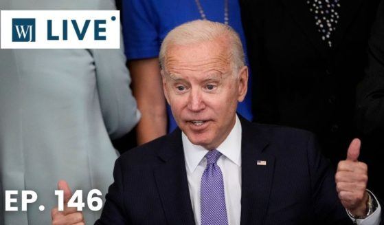 President Joe Biden gives a thumbs up after signing the VOCA Fix to Sustain the Crime Victims Fund Act of 2021 into law in the East Room of the White House last week in Washington, D.C.