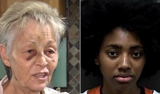 Walmart employee Jazareia Velasquez, 17, right, has been charged with aggravated battery to an elderly person and disorderly conduct in the attack on 70-year-old P.K. Shader, left.