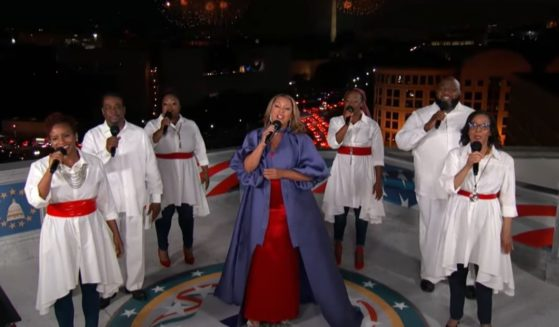 """Vanessa Williams sings """"Lift Every Voice and Sing,"""" which has been called the """"black national anthem,"""" during """"A Capitol Fourth 2021"""" on PBS."""